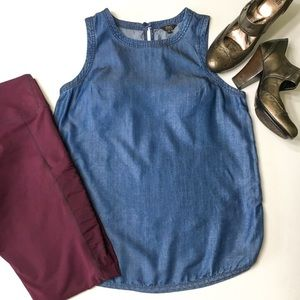 Nordstrom 1250C Degrees Chambray Tank, sz M